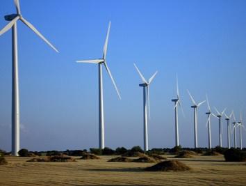 windmolenpark aan de kust