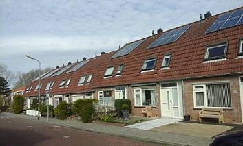 zonnepanelen op dak van huurwoning